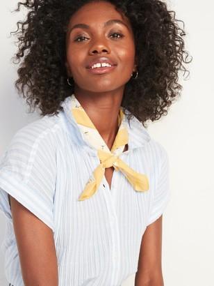 Old Navy Printed Poplin Neckerchief for Women