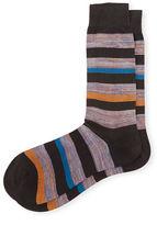 Pantherella Salton Striped Dress Socks