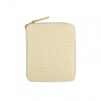 Comme des Garcons White Leather Wallets