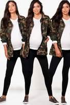 boohoo Maternity Christina 3 Pack Over The Bump Legging black