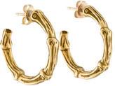 Tiffany & Co. 18K Bamboo Hoop Earrings