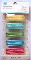 Martha Stewart Modern Festive, Yellow, Aqua, Green, Red, Blue, Ribbon -