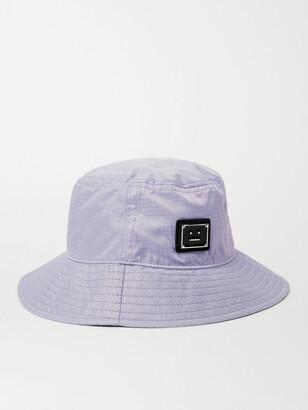 Acne Studios Logo-Appliqued Ripstop Bucket Hat