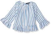 Ralph Lauren 2-6X Striped Ruffled Cotton Top