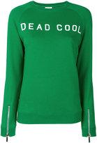 Zoe Karssen slogan embroidered sweater - women - Cotton - XS