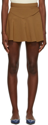 RED Valentino Tan Gabardine Buckle Skirt