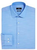 Boss Melange Solid Slim Fit Dress Shirt