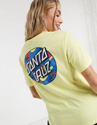 Santa Cruz Primary Dot t-shirt in pastel yellow