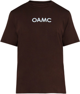 Oamc Logo-print cotton T-shirt