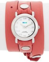 La Mer Women's Coral Triple Wrap Watch