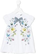 Roberto Cavalli floral dress - kids - Cotton/Spandex/Elastane - 12 mth