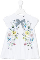 Roberto Cavalli floral dress - kids - Cotton/Spandex/Elastane - 3 mth