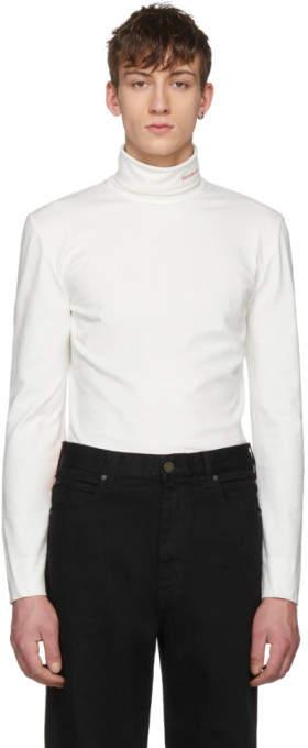 Calvin Klein White Logo Turtleneck