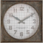 Asstd National Brand Warehouse Clock with Grill Wall Clock