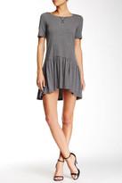 BCBGeneration Short Sleeve Hi-Lo Jersey Knit Dress