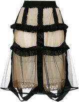 Maison Margiela sheer overlay skirt