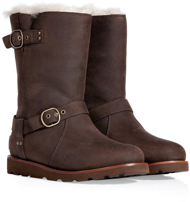 UGG Brownstone Leather Noira Boots