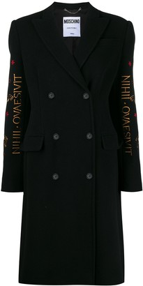 Moschino Mythological Creatures embroidery coat