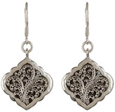 Lois Hill Sterling Silver Granulated Drop Earrings