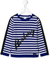 Burberry striped jumper - kids - Cotton/Merino - 4 yrs