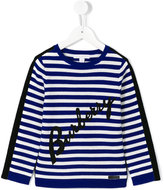 Burberry striped jumper - kids - Cotton/Merino - 5 yrs