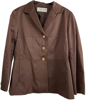 Genny Brown Cotton Jacket for Women