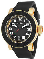 Redline Red Line 50051-YG-01 Men's Xlerator Black Silicone and Dial Gold-Tone SS