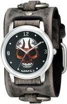 Nemesis Men's 924FRBK Angry Skull Series Analog Display Japanese Quartz Grey Watch