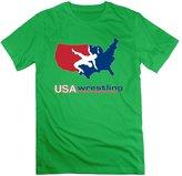 ForestGreen Enlove USA Wrestling Short-Sleeve T Shirt For Men