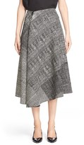 Jason Wu Women's Mixed Print Asymmetric Wool Skirt