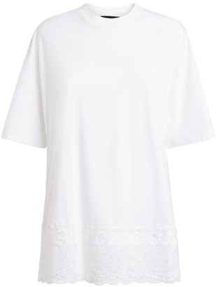 Simone Rocha Lace-Trim T-Shirt