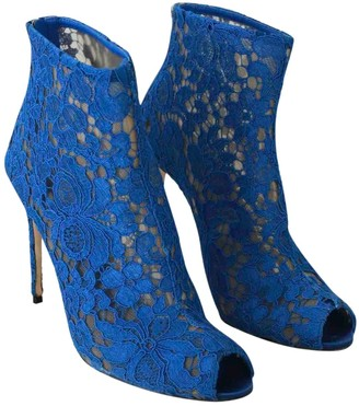 Dolce & Gabbana Blue Cloth Ankle boots