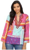 Hale Bob Mix Master Silk Luxe Hand Beaded Blouse