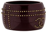 Chanel Studded CC Resin Cuff