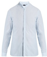 Lanvin Mandarin-collar single-cuff cotton shirt