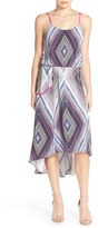 Charlie Jade Women's Print Silk High/low Dress