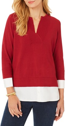 Foxcroft Callahan Layered Pullover