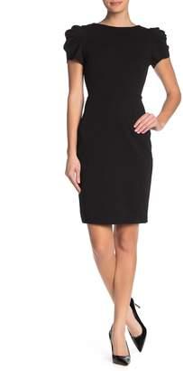 Betsey Johnson Puff Sleeve Midi Dress (Regular & Plus Size)