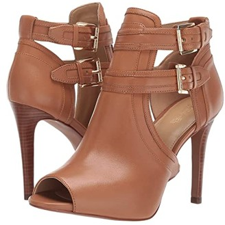MICHAEL Michael Kors Blaze Open Toe Bootie (Black) Women's Boots