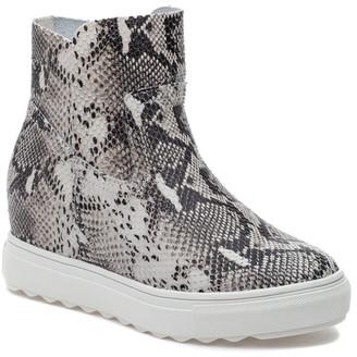 J/Slides Posh Leather Sneaker Boot