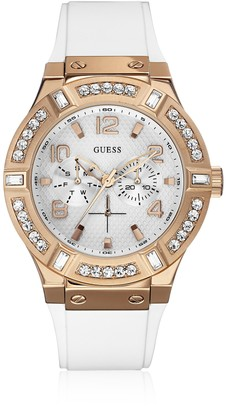 GUESS Womens Analogue Quartz Watch with Rubber Strap W0614L1