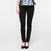 Paul Smith Women's Black Brushed Denim High-Waisted Skinny Jeans