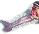 Univegrow Girls Mermaid Tails swimmsuit Swimmable Mermaid Tails for Kids 6-14