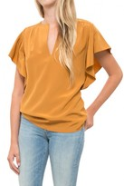 Vanessa Bruno Flutter Sleeve Top