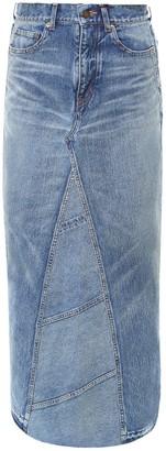 Saint Laurent Maxi Denim Skirt