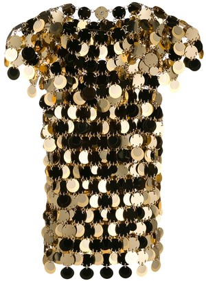 Paco Rabanne sequin chainmail T-shirt