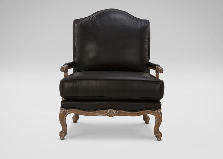 Ethan Allen Harris Leather Chair