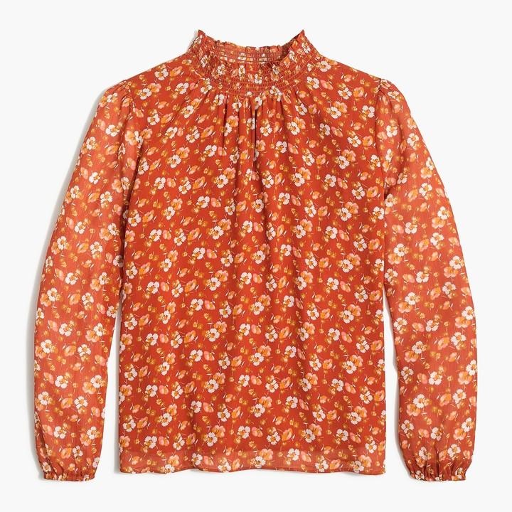 J.Crew Smocked shirt