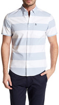 Original Penguin Short Sleeve Horizontal Stripe Print Slim Fit Shirt