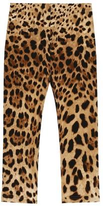 Dolce & Gabbana Kids Leopard stretch-cotton leggings